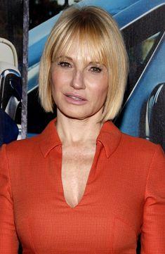 Ellen Barkin-Hottest Bobs with Bangs l www.sophisticatedallure.com