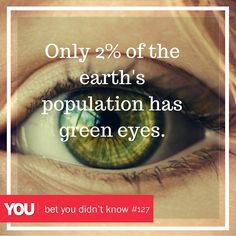 #funfact Green Eyes, Fun Facts, Earth, How To Get, Space, Day, Inspiration, Floor Space, Biblical Inspiration