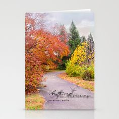 Colors of Autumn Stationery Card Set of 3