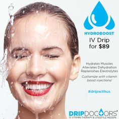 Drip with Us! - Feeling dehydrated? Need a quick detox? Our Hydroboost IV Drip instantly replenishes electrolytes and hydrates muscles💧Only $89 🙆 Customize it with different vitamin boost injections to optimize your needs!💪 www.dripdoctors.com or ☎Call (213)749-DRIP to book an appointment now💧😄#dripdoctors #dripwithus #IVDrip #IV #vitamintherapy #drip #hydrate #feelbetternow #detox #health #wellness #replenish #ivvitamintherapy #medspa #dtla #vitamin
