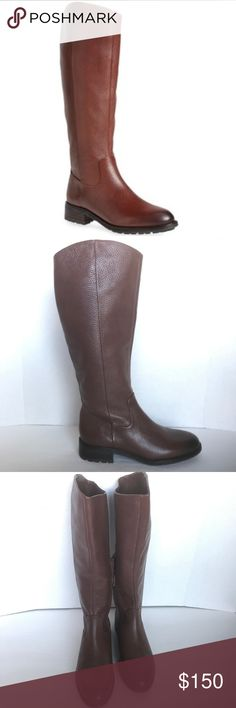 """🆕 New Sam Edelman Ryan Brown Leather Riding Boots These Sam Edelman Ryan Umber Brown Leather Riding Boots are New Without Tags or Box and have never been worn.  DESCRIPTION: SIZE: 6.5 A classic slanted shaft gives this modern riding boot equestrian style, while softly pebbled leather and a subtly burnished finishkeep the look casual and perfect for pairing with your favorite fall ensembles. •1 1/2"""" heel (size 8.5). •15"""" shaft; 14"""" circumference. •Partial side-zip closure. •Leather…"""