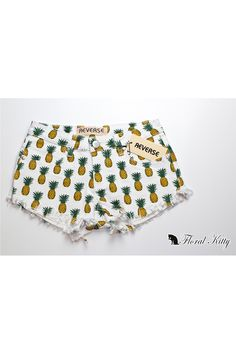 Floral Kitty - Products - Bottoms - Pineapple Shorts | Online Clothing Boutique | Launceston, TAS, AU