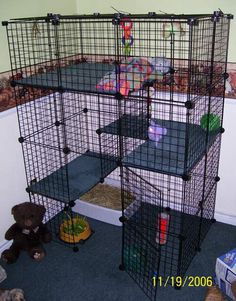 Easy way to do a rabbit cage