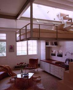 design de interiores - Como decorar uma kitnet muito pequena, mas com pé direito alto.