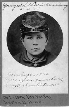 Youngest soldier in Union Army