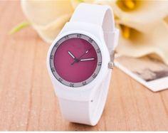 Moderní dámské silikonové hodinky růžové – dámské hodinky Na tento produkt  se vztahuje nejen zajímavá sleva 4201d13775b