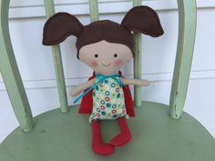 Little girl Super Hero doll perfect for by AButtonAndAStitch