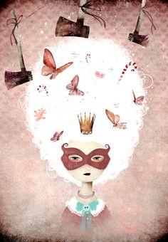 """Marie-Antoinette"", Anne-Julie Aubry, www.annejulie-art.com"