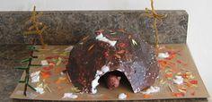 Paper Mache Hibernation Cave
