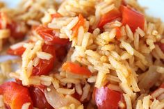 Fresh Tomato and Red Pepper Mexican Rice - This rice dish can be thrown together in about 5 minutes, and cooks up in about 20. Super simple and fresh.