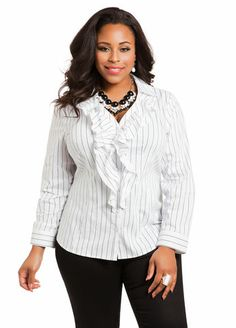 The Smocked Ruffle-Top from @Ashley Stewart ...Conduct Business & Play In this piece! ;) #TeamAliyahC