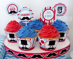Little Man Mustache Bash Baby Shower Party Ideas | Photo 18 of 23 | Catch My Party