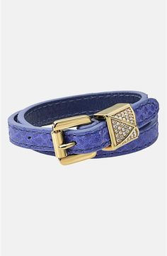 Cute! Michael Kors Leather Wrap Bracelet