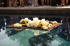 Backyard Chic Utah Wedding - floating candle decoration #wedding #rusticwedding