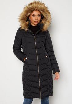 Happy Holly Sadie long jacket Black - Bubbleroom Long Jackets, Winter Jackets, Long Puffer Coat, Sadie, Happy, Black, Fashion, Bra Tops, Scale Model