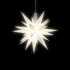 Herrnhuter Moravian Star DIY Kit White Plastic by Herrnhuter Sterne German Christmas Markets, Star Lamp, Star Lanterns, Do It Yourself Kit, Star Diy, Led Tubes, Star Decorations, Paper Stars, Christmas Star