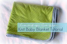 "interlock knit baby blanket 36"" x 48"", new michael miller knits @vanillajoy.com"