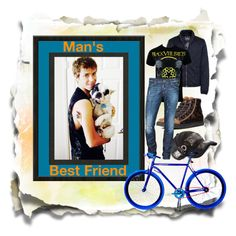 """""""Man's Best Friend"""" by fantasiegirl ❤ liked on Polyvore featuring mode, Marc Jacobs, Diesel, Barbour, Dsquared2 et Martone Cycling Co."""