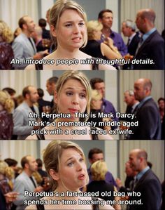 Ah, introduce people with thoughtful details ~ Bridget Jones's Diary (2001) ~ Movie Quotes