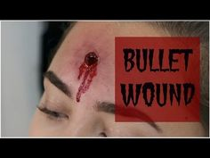 How to: Easy Bullet Wound Make-Up | only using lash glue