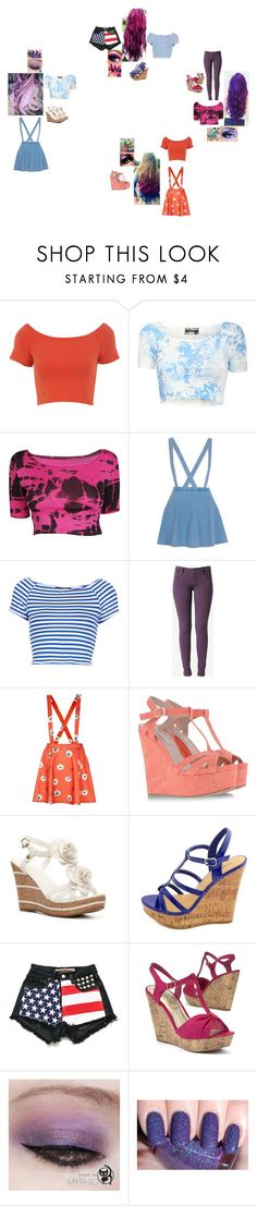 """""""We have the style,you don't have the style...4"""" by glee2shake ❤ liked on Polyvore featuring Miss Selfridge, River Island, Topshop, Hudson Jeans, Pura López, Wanted, Charlotte Russe and Maybelline"""