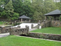Monocacy Park-these stones were laid by the WPA.