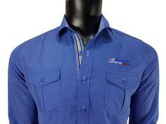 Koszula męska niebieski - - Koszule męskie - Awii, Odzież męska, Ubrania męskie, Dla mężczyzn, Sklep internetowy Athletic, Jackets, Fashion, Down Jackets, Moda, Athlete, Fashion Styles, Deporte, Fashion Illustrations