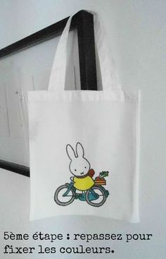 DIY tuto tote bag Miffy