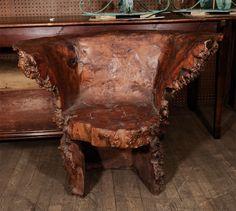 19th century burl armchair