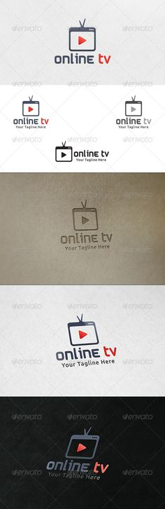Online TV Logo Template — Vector EPS #broadcasting #browser window • Available here → https://graphicriver.net/item/online-tv-logo-template/6677992?ref=pxcr