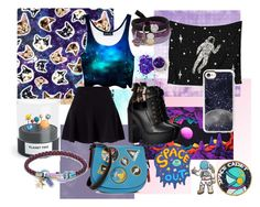 Galaxy Gal by iamgrootiamgroot on Polyvore featuring Miss Selfridge, Coach 1941, Coach, Casetify, Marc Jacobs and Kess InHouse