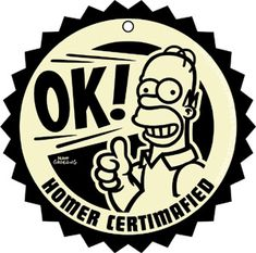 The Simpsons Homer Certified