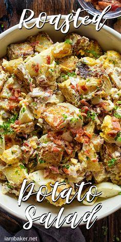 THE BEST Potato Salad you will ever try! potato al horno asadas fritas recetas diet diet plan diet recipes recipes Roasted Potato Salads, Warm Potato Salads, Salad With Sweet Potato, Roasted Potatoes, Potato Salad Recipe With Russet Potatoes, Roasted Potato Soup Recipe, Potato Salad Bacon, Recipes With Potatoes, Best Ever Potato Salad