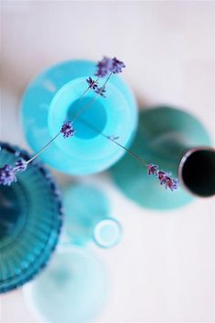 lavender and turquoise...
