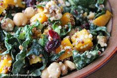 Fall-inspired Kale, Squash & Quinoa Salad - Vegan & Gluten-free