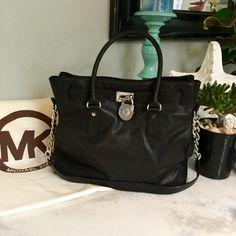 MICHAEL KORS LARGE HAMILTON TOTE Beautiful leather tote authentic MK Michael Kors Bags Totes