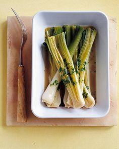 Seasonal Leeks.....gotta do something with 'em! Braised Leeks