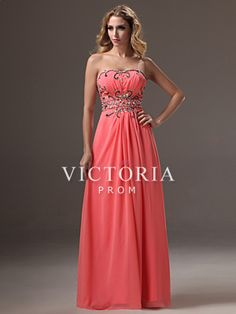 b69109d242b  US 159.99  Formal Evening Peach Chiffon Beaded A-Line Long Sweetheart Prom  Dress