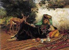 Jeune femme de Biskra par eugène alexis giradet 1879