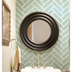 Cutting Edge Stencils - Herringbone Brick Allover Stencil...love it for my Master Bathroom