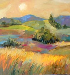 "Daily Paintworks - ""Marmalade Skies"" - Original Fine Art for Sale - © Libby Anderson"