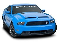 2010 2012 Mustang Cervinis Ram Air Hood With Louvers 2014 Ford Mustang Body Kits