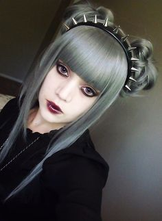 Dyed grey hair - love the hair colour and pale skin