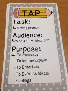 Writing with audience and purpose in mind.