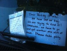 A parking officer takes pity. - imgur