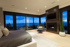 Bedroom in Elegant modern house in west Vancouver, Canada