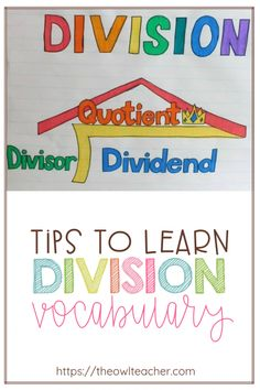 Teach the division math vocabulary in your elementary classroom with this one simple hack and Division Anchor Chart, Math Division, Anchor Charts, Teaching Division, Star Mobile, Upper Elementary Resources, Elementary Math, Teaching Tips, Teaching Math