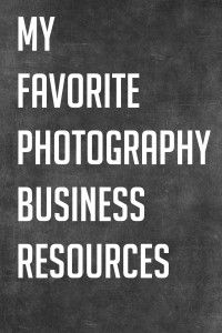 Awesomesauce: My favorite photography business resources