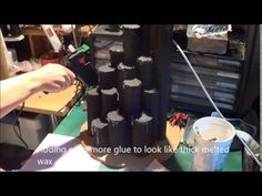 Diy Halloween Props Gothic candles - YouTube