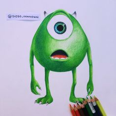 My artwork of Mike wazowski